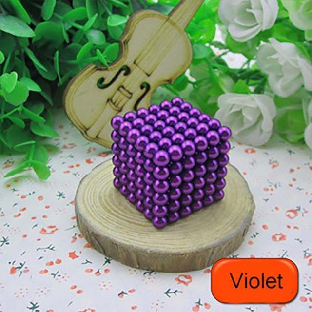 216 Pcs/Package 5Mm Magic Game 16 Kinds Diy Cubes Balls Puzzle Magnets Board Game With Metal Box-Entertainment-King Magic Stars Store-Violet-EpicWorldStore.com