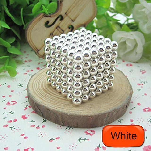 216 Pcs/Package 5Mm Magic Game 16 Kinds Diy Cubes Balls Puzzle Magnets Board Game With Metal Box-Entertainment-King Magic Stars Store-White-EpicWorldStore.com
