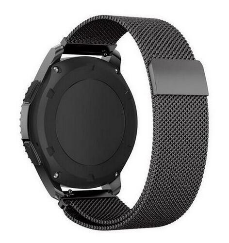 22Mm 20Mm Milanese For Samsung Gear S3 Frontier Classic Band For Samsung Gear Sport Gear S2 Strap-Watch Accessories-laobiao Store-Black-22mm for samsung s3-EpicWorldStore.com