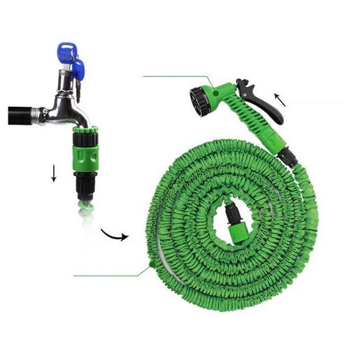 25Ft 250Ft Garden Hose Expandable Magic Flexible Water Hose Eu Hose Plastic Hoses Pipe With Spray-Garden Hoses & Reels-Bahmetev Official Store-25ft-Green-EpicWorldStore.com