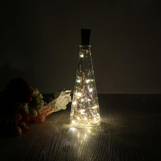 2M 20-Led Copper Wire String Light With Bottle Stopper Led Lights Decoration Fairy Lamp Party Home-Holiday Lighting-LemonBest LedLights Official Store-EpicWorldStore.com