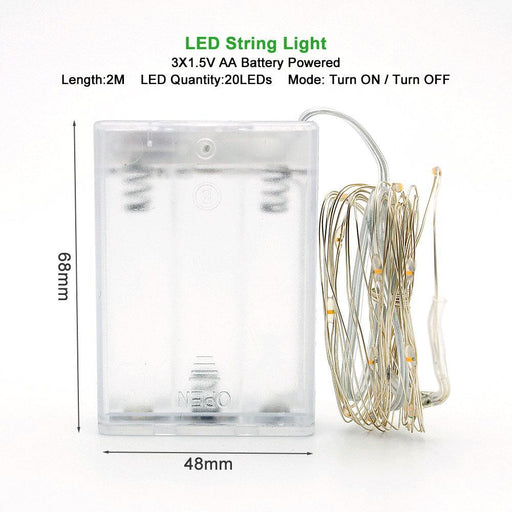 2M 5M 10M Led Silver Wire String Lights For Christmas Festival Wedding Party Holiday Decoration-Holiday Lighting-ANBLUB Official Store-Blue-2M 20LEDs-EpicWorldStore.com