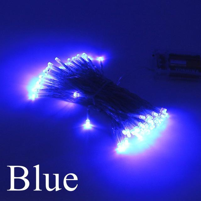 2m 5m 10m led string lights 3aa battery operated waterproof fairy led christmas lights