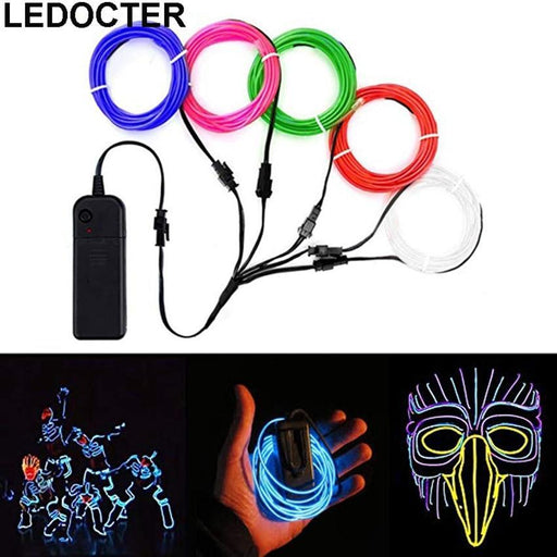 2M/3M/5M Flexible Neon Light Glow El Wire Rope Tube Waterproof Dance Party Decor Light Shoes-Holiday Lighting-MODELED Store-Blue-2 meters-O-EpicWorldStore.com