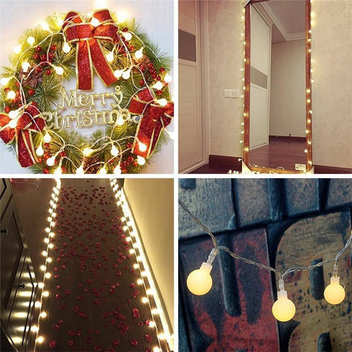 2M/4M/10M 80Led Cherry Balls Fairy String Decorative Lights Battery Operated Wedding Christmas-Holiday Lighting-ProfessionalLED Store-RGB-2M 20LEDs-EpicWorldStore.com