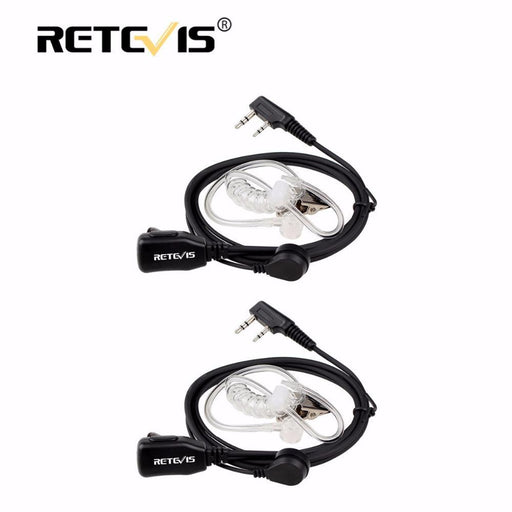 2Pcs Acoustic Tube Ptt Mic Earpiece Walkie Talkie Headset For Kenwood For Baofeng Bf-888S Uv5R Uv-82-Communication Equipments-RETEVIS Official Store-EpicWorldStore.com