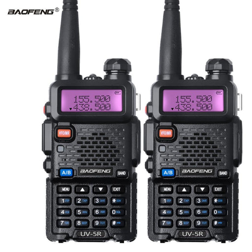 2Pcs Baofeng Uv 5R Walkie Talkie Dual Band Uv5R Cb Radio Fm 128Ch Vox Ham Radio Station-Communication Equipments-Walkie Talkie Global Store-5W Camo-EpicWorldStore.com