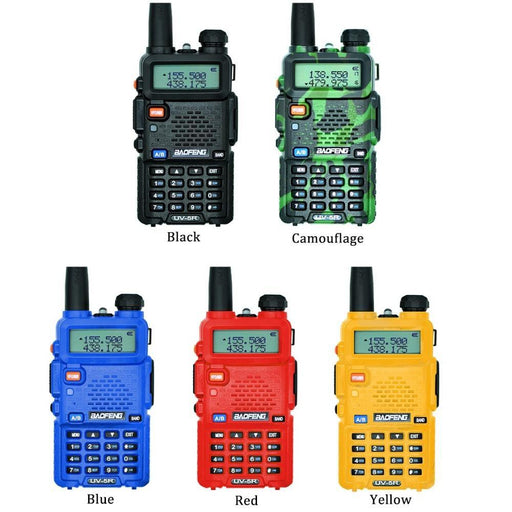 2Pcs Baofeng Uv-5R Walkie Talkie Uhf Vhf Dual Band Uv5R Cb Radio 128Ch Flashlight Dual Display Fm-Communication Equipments-Baofeng Store-2PCS Cam-EpicWorldStore.com
