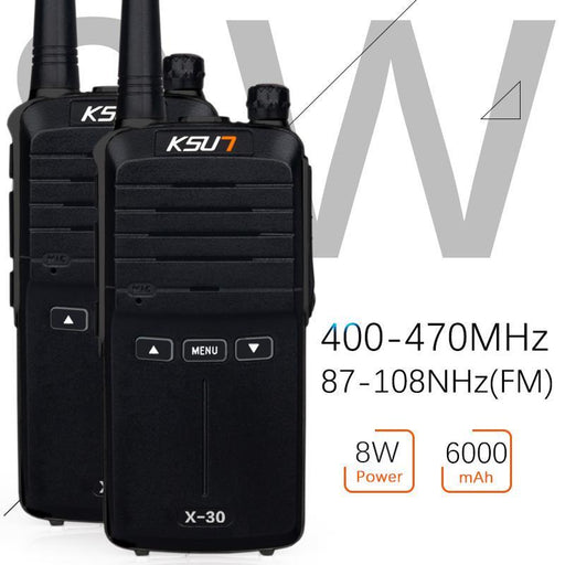 (2Pcs) Ksun X-30 Handheld Walkie Talkie Portable Radio 8W High Power Uhf Handheld Two Way Ham-Communication Equipments-QuanZhou buxun store-Chinese-EpicWorldStore.com