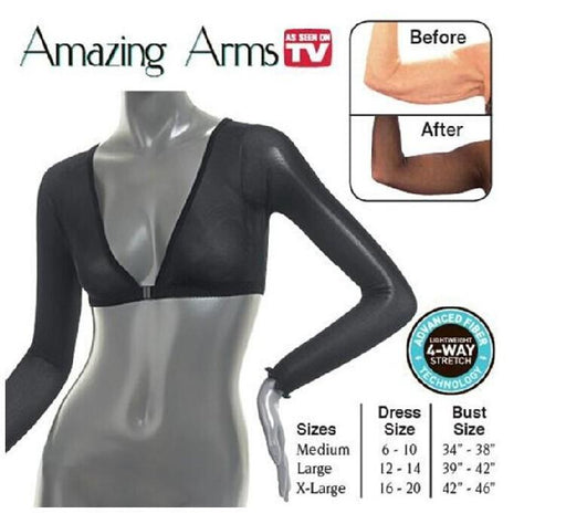 2Pcs/Lot Arms Cincher Underbust Control Corset Firm Arm Slimming Shaper Bodybuilding Arm Upper-Fragrances & Deodorants-BHLL Store-2pcs black M-EpicWorldStore.com
