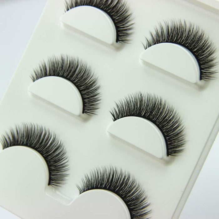 3 Pairs1 Set 3d Cross Thick False Eye Lashes Extension Makeup Super