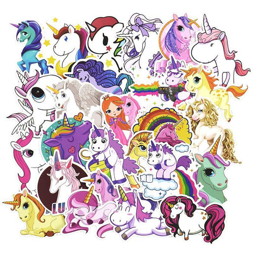 30 Pcs Colorful Cute Unicorn Stickers For Laptop Car Styling Phone Luggage Bike Motorcycle Mixed-Classic Toys-Zhehong Toy Store-EpicWorldStore.com