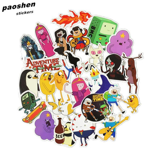 30Pcs Adventure Time Cartoon Pvc Waterproof Sticker For Luggage Wall Car Laptop Bicycle Motorcycle-Classic Toys-paoshen Official Store-EpicWorldStore.com