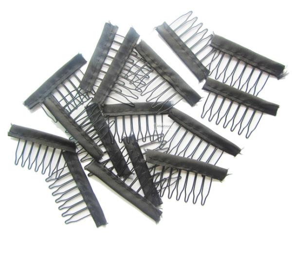 30pcs Black Color Wire Wig Combs Plastic Clips Convenient For Hair