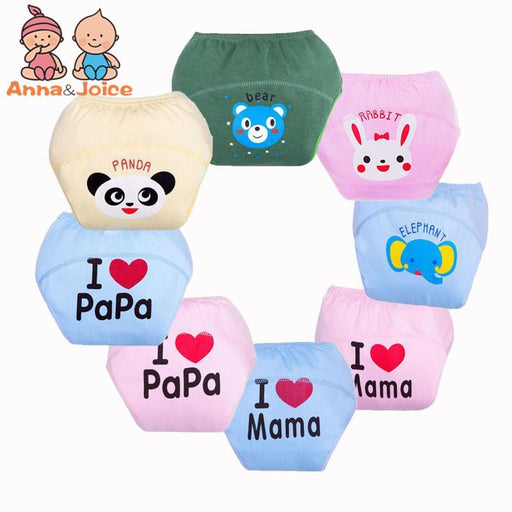 30Pcs/Lot 8Designs Papa&Mama Baby Training Pants Cloth Diapers Washable Diapers Boys Girls-Toilet Training-Frist-class baby & kids-EpicWorldStore.com