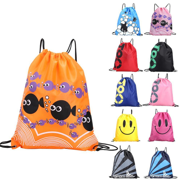 34*42Cm Double Layer Drawstring Waterproof Backpacks Colorful Shoulder Bag Swimming Bags For Outdoor-Sport Bags-Yting Outdoor Store-Blue-EpicWorldStore.com