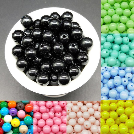 3/4/6/8/10Mm 200/200/100/100/50Pcs/Lot Cheap Hot Acrylic Beads Fits For Handmade Diy Necklace-Beads & Jewelry Making-Beads sellers Store-picture 1-3mm 200pcs-EpicWorldStore.com