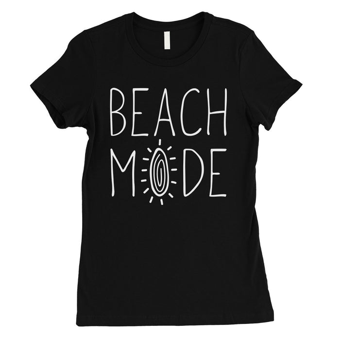 365 Printing Beach Mode Womens Simplicity Excitement Summer Vacation T-Shirt-Apparel & Accessories-365 Printing-Black-X-Large-EpicWorldStore.com