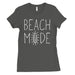 365 Printing Beach Mode Womens Simplicity Excitement Summer Vacation T-Shirt-Apparel & Accessories-365 Printing-Cool Grey-X-Large-EpicWorldStore.com