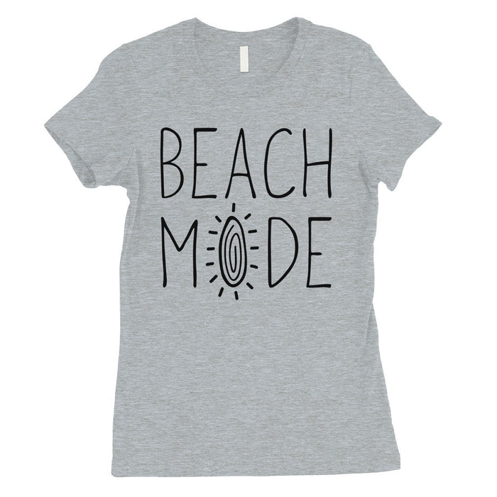 365 Printing Beach Mode Womens Simplicity Excitement Summer Vacation T-Shirt-Apparel & Accessories-365 Printing-Heather Grey-XX-Large-EpicWorldStore.com