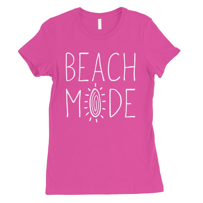 365 Printing Beach Mode Womens Simplicity Excitement Summer Vacation T-Shirt-Apparel & Accessories-365 Printing-Hot Pink-Small-EpicWorldStore.com