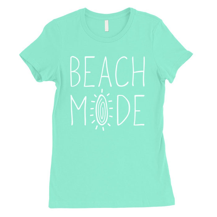 365 Printing Beach Mode Womens Simplicity Excitement Summer Vacation T-Shirt-Apparel & Accessories-365 Printing-Mint-X-Large-EpicWorldStore.com