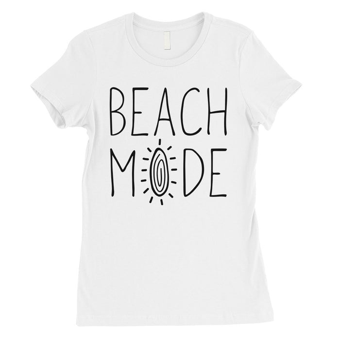 365 Printing Beach Mode Womens Simplicity Excitement Summer Vacation T-Shirt-Apparel & Accessories-365 Printing-White-X-Large-EpicWorldStore.com