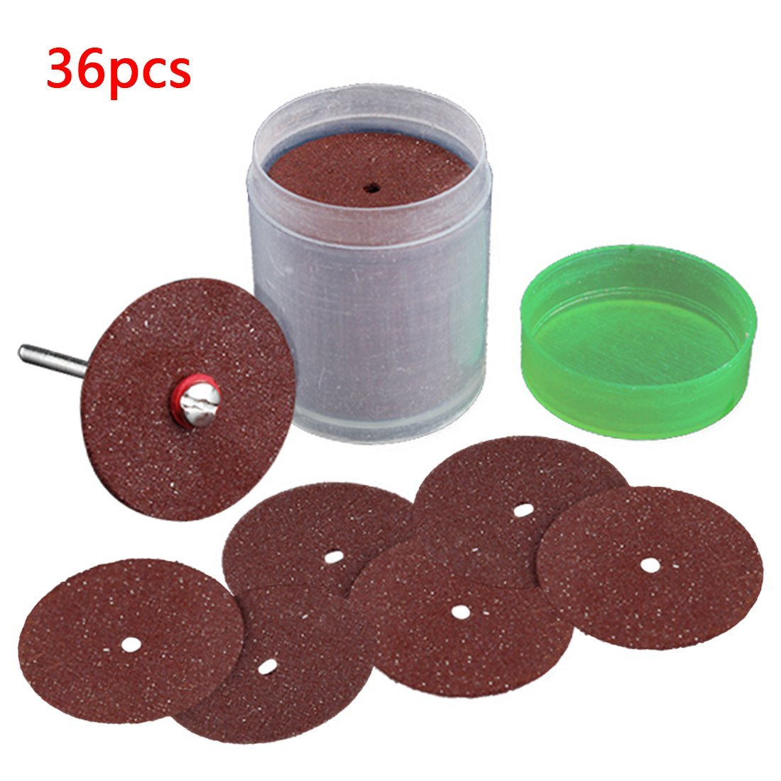 36Pcs Circular Saw Blade Grinding Wheel Cutting Disc For Rotary Tool Red