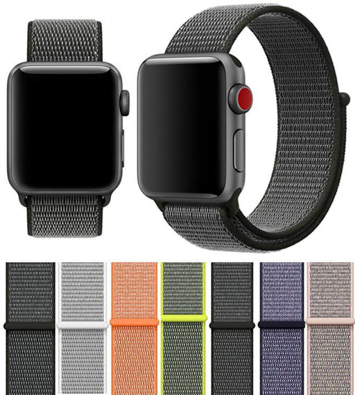 38Mm 42Mm Band For Apple Watch Series 1 2 3 Woven Nylon Band Strap For Iwatch Colorful Pattern-Watch Accessories-laobiao Store-stripe blue-38mm-EpicWorldStore.com