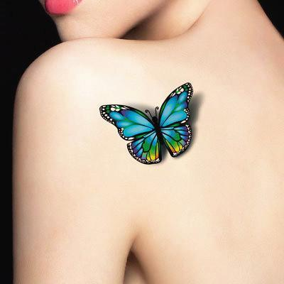 3D Butterfly Tattoo Decals Body Art Decal Flying Butterfly Waterproof Paper Temporary Tattoo-Tattoo & Body Art-Makeup Banquet Store-EpicWorldStore.com