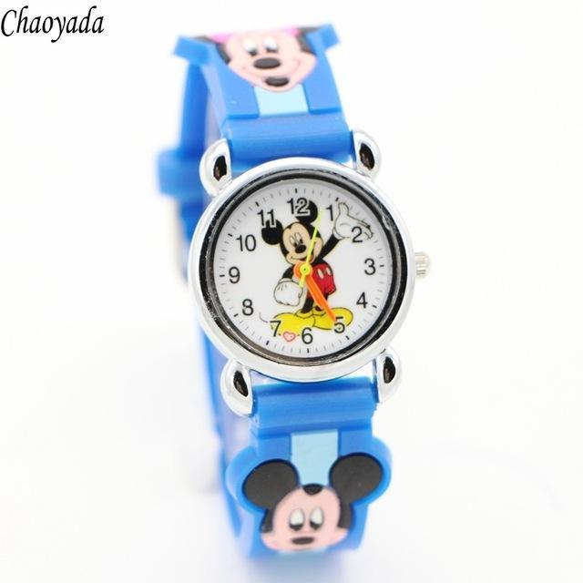 3D Cartoon Lovely Kids Girls Boys Children Students Quartz Wrist Watch Very Popular Watches Minnie-Lover's Watches-Lydia's Store-dark blue-EpicWorldStore.com