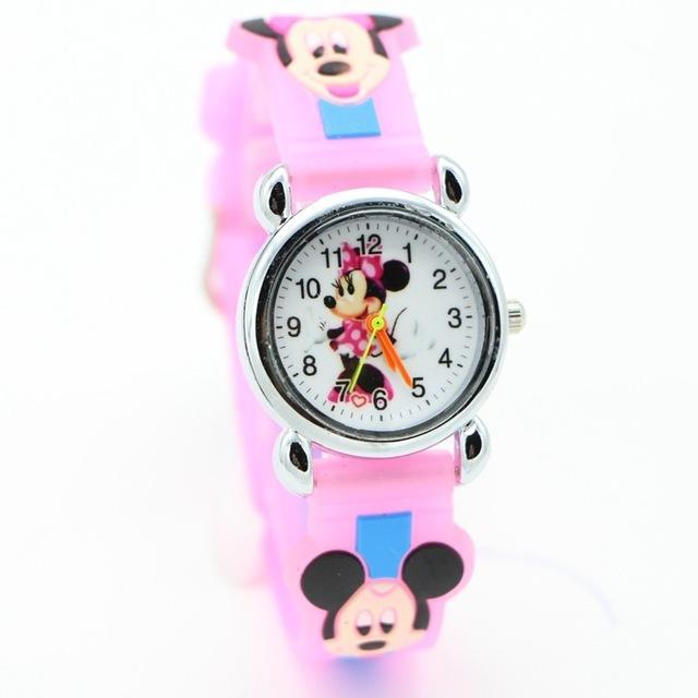 3D Cartoon Lovely Kids Girls Boys Children Students Quartz Wrist Watch Very Popular Watches Minnie-Lover's Watches-Lydia's Store-pink-EpicWorldStore.com