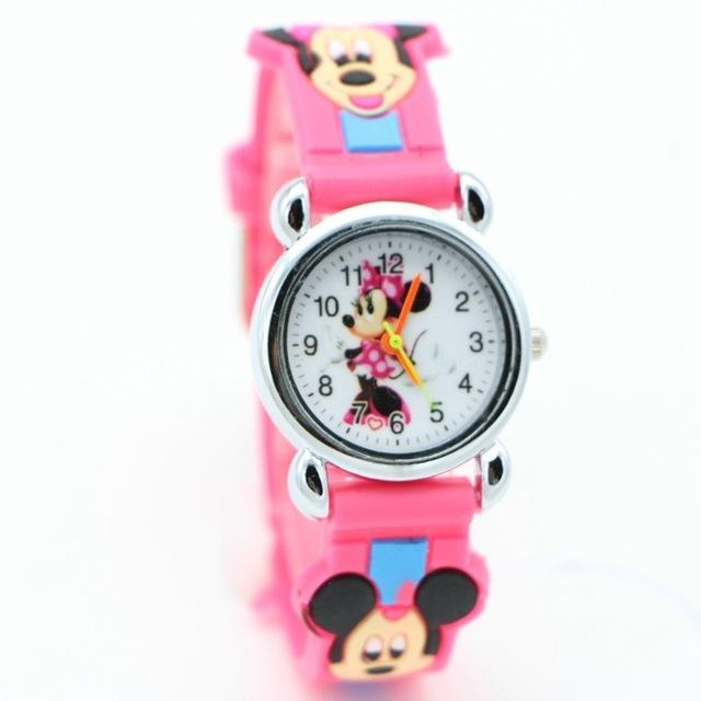 3D Cartoon Lovely Kids Girls Boys Children Students Quartz Wrist Watch Very Popular Watches Minnie-Lover's Watches-Lydia's Store-rose-EpicWorldStore.com