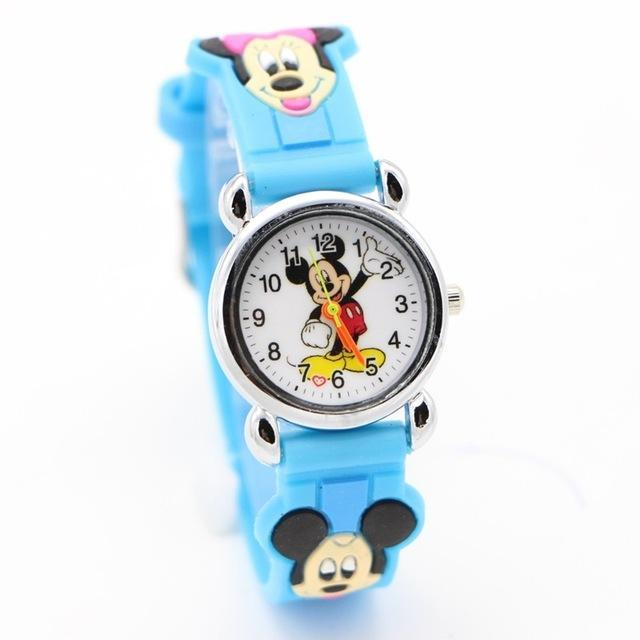 3D Cartoon Lovely Kids Girls Boys Children Students Quartz Wrist Watch Very Popular Watches Minnie-Lover's Watches-Lydia's Store-sky blue-EpicWorldStore.com