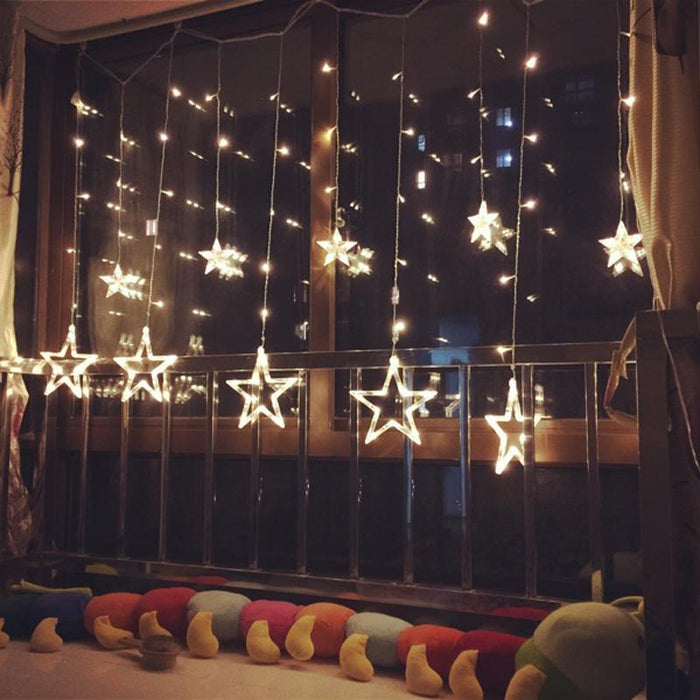 3M 25M Led Twinkle Christmas Lights Fairy Icicle Flash Garland Star Curtain Light Party