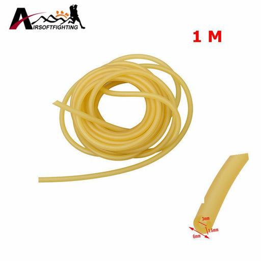 3Mm X 6Mm Natural Latex Slingshots Rubber Tube 1M Elastic Tubing Band Outdoor Hunting Shooting-Hunting-Airsoftfighting-EpicWorldStore.com