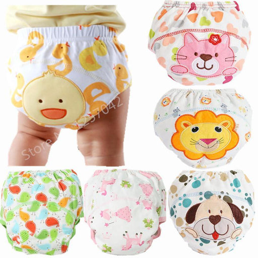 3Pcs Baby Training Pants Panties Diapers Reusable Washable Baby Cloth Diaper Cover Waterproof-Baby Care-Forever Love To Children-White-Size 80-EpicWorldStore.com
