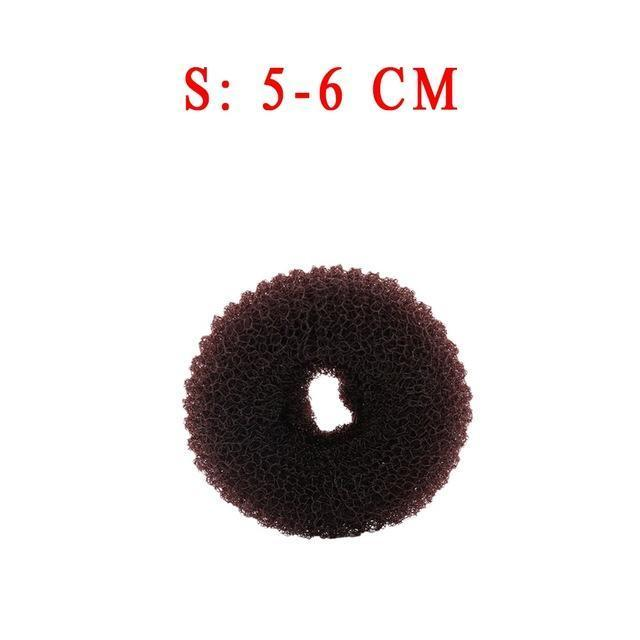 3Pcs Size S/M/L Women Magic Shaper Donut Hair Ring Bun Haar Accessories Lady Styling Tool-Accessories-gootrades Official Store-Coffee 6cm-EpicWorldStore.com