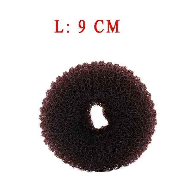 3Pcs Size S/M/L Women Magic Shaper Donut Hair Ring Bun Haar Accessories Lady Styling Tool-Accessories-gootrades Official Store-Coffee 9cm-EpicWorldStore.com