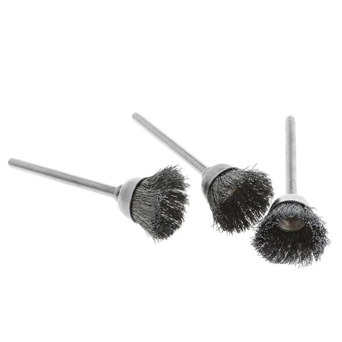 3Pcs Steel Wire Wheel Brush Head Abrasive Deburring Drilling Tools Bowl-Shape L15-Abrasive Tools-Welcome-to My Store-EpicWorldStore.com