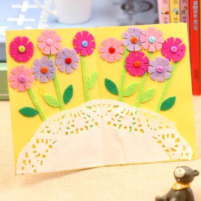 3pcslot3 Design Felt 3d Greeting Cards Craft Kits With Envolope