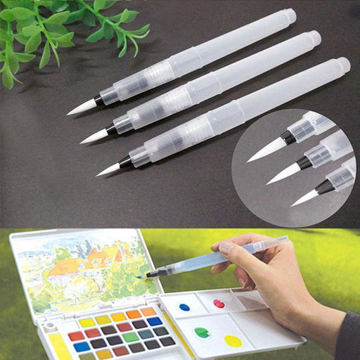 3Pcs/Set S/M/L Large Capacity Water Brush Soft Watercolor Art Paint Brush Nylon Hair Painting-Festive & Party Supplies-Sweetie Castle-EpicWorldStore.com