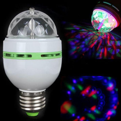 3W E27 Rgb Full Color Led Bulb Auto Rotating Stage Effect Dj Disco Light Bulb Mini Laser Stage Bar-Commercial Lighting-ledsmith Speciality Store-EpicWorldStore.com