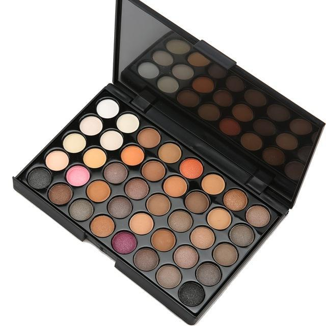40 Colors Smoky Matte Eyeshadow Pallete Mixed Color Baking Powder Eye Shadow Palette Naked Nude-Makeup-Shenzhen Cofly Cosmetics Co., LTD-EpicWorldStore.com