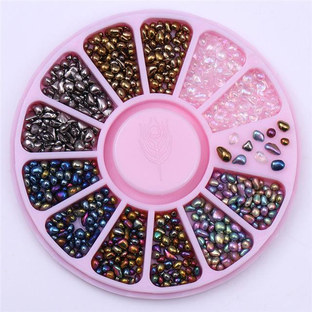 400Pcs 1.2Mm/2Mm/3Mm/4Mm Mixed Silver Round Rhinestones For Acrylic Uv Gel Shinning Nail Art-Nails & Tools-BeautyLadyNailArt Store-Pink-EpicWorldStore.com