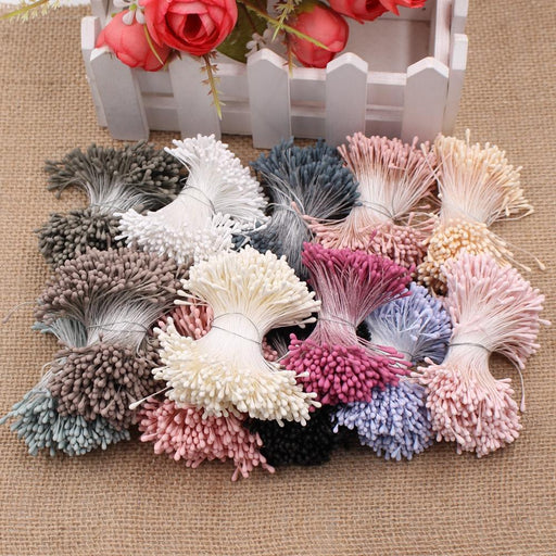 400Pcs 1.5Mm Mini Stamen Handmade Artificial Flowers For Wedding Party Home Decoration Diy Christmas-Festive & Party Supplies-Shakespeare Store-Blue-EpicWorldStore.com