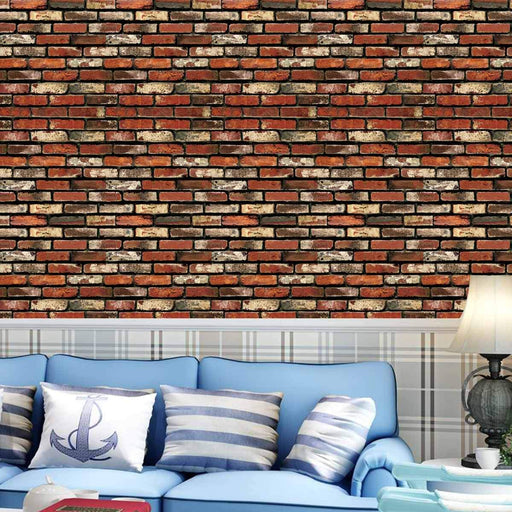45Cmx10M 3D Diy Wallpapers Brick Stone Pattern Sticker Rolls Pvc Self Adhesive Backdrop Living-Wallpapers-Muggle HardwareParadise Store-SKU734468-EpicWorldStore.com