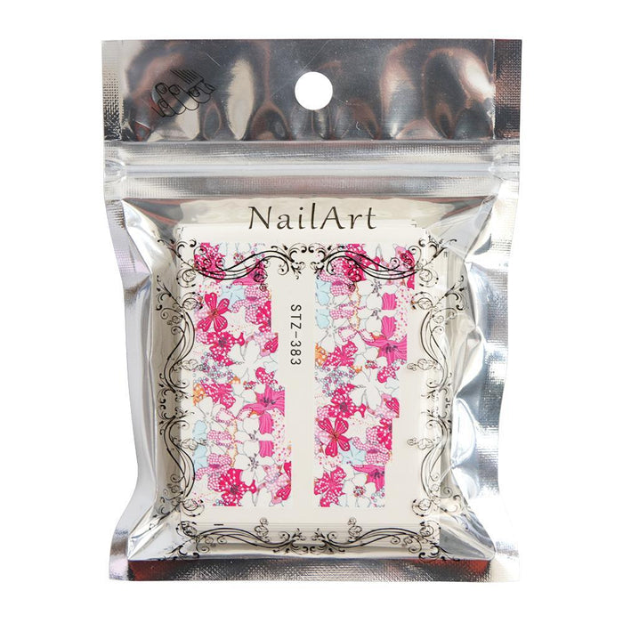 48Pcs Mixed 48 Designs Flower Nail Art Full Wraps Nail Foils Nail Sticker Decals Water Transfer-Nails & Tools-STZ Nail Art-EpicWorldStore.com