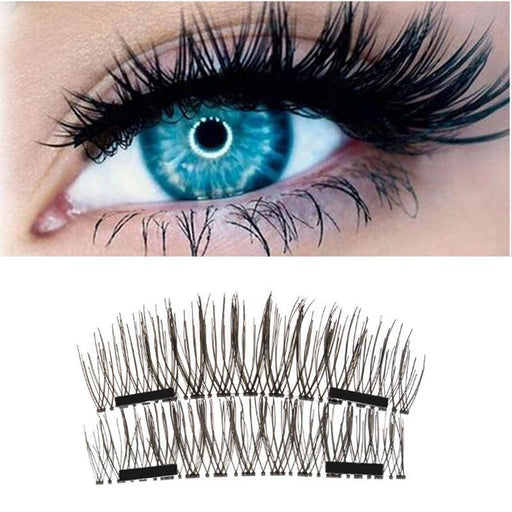 4Pcs 3D Double Magnetic Eyelashes Natural Beauty Full Strip Magnetic Hair Fake Eye Lashes Make Up-Tools & Accessories-boomdealer Store-EpicWorldStore.com