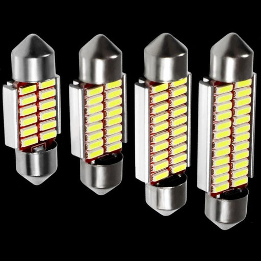 4Pcs High Quality 31Mm 36Mm 39Mm 41Mm C5W C10W 4014 Led Canbus Car Festoon Lights Auto Interior Dome-Car Lights-Long light electric co., LTD-36mm white-EpicWorldStore.com